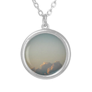 clouds in romania silver plated necklace