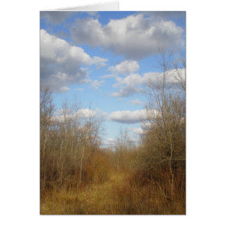 """""""Clouds in Spring Over the Lane"""" Card"""