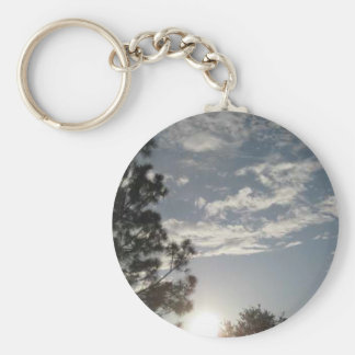 Clouds in the Sky Basic Round Button Key Ring