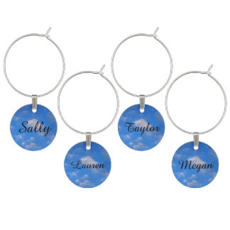 Clouds in the Sky Wine Charm