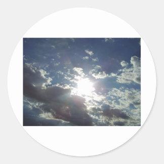 Clouds in Wyoming! Round Sticker