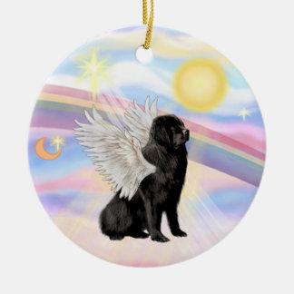 Clouds - Newfoundland Angel (black) Ceramic Ornament
