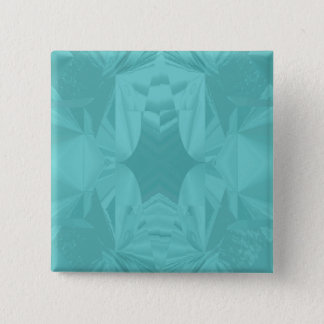 Clouds of Aqua Marine Soft Pastel Abstract 15 Cm Square Badge