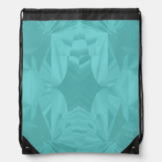 Clouds of Aqua Marine Soft Pastel Abstract Drawstring Bag