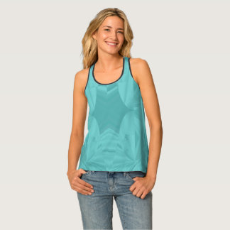 Clouds of Aqua Marine Soft Pastel Abstract Singlet