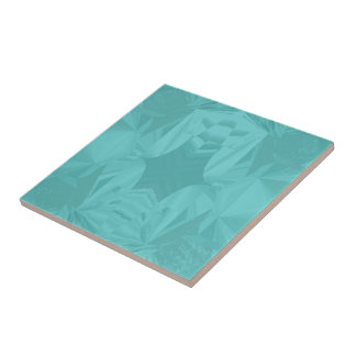 Clouds of Aqua Marine Soft Pastel Abstract Small Square Tile