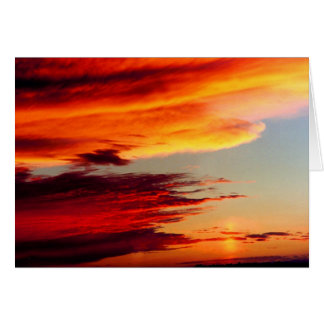 CLOUDS OF FIRE GREETING CARD