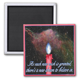 Clouds of Inspiration magnet:  Wish on a candle