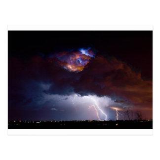 Clouds of Light. Lightning Striking Boulder County Postcard