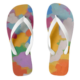 Clouds of Many Colours flip flops