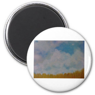 Clouds on things 6 cm round magnet