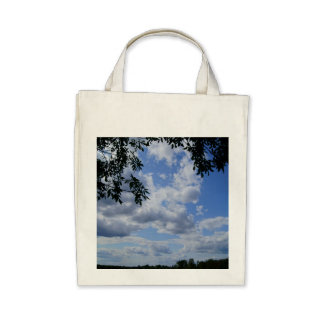 Clouds Organic Grocery Tote - DSC00995 Bags