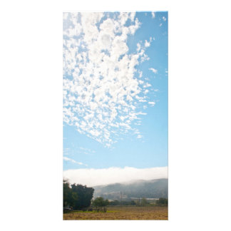 Clouds over a pasture photo cards
