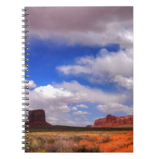 Clouds over Monument Valley, UT Notebook