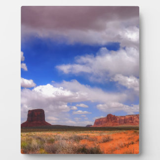 Clouds over Monument Valley, UT Plaque