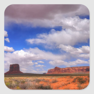 Clouds over Monument Valley, UT Square Sticker