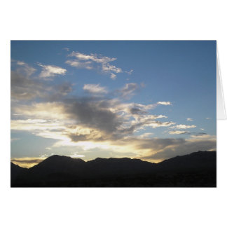 clouds over mountian greeting card