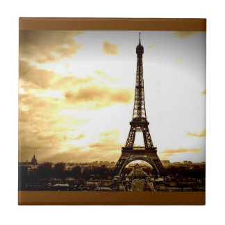 Clouds Over Paris Ceramic Tile