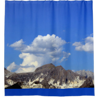 clouds over the  Apuan Alps , Italy Shower Curtain