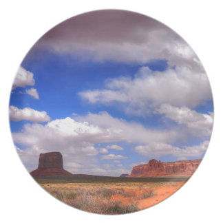 Clouds over the desert plate