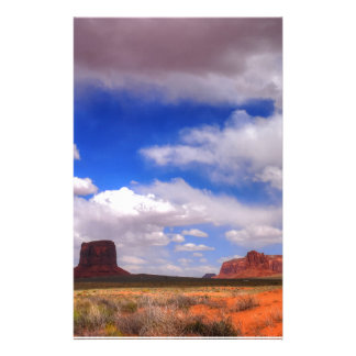 Clouds over the desert stationery