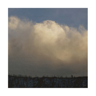 Clouds Over the Ridge Wood Wall Decor