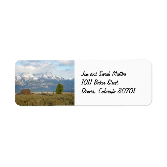 Clouds Over the Tetons Return Address Label