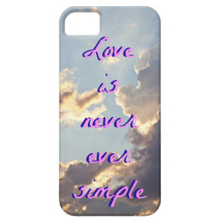 Clouds Phone Case- Love is never ever simple iPhone 5 Cover