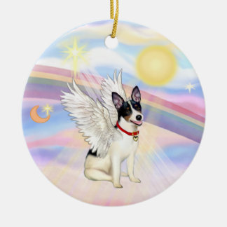 Clouds - Rat Terrier Angel Ceramic Ornament