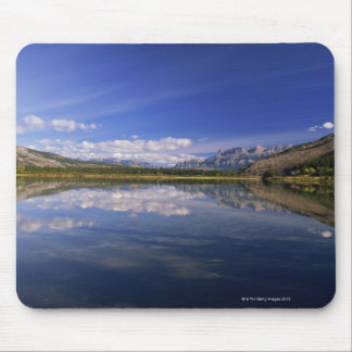 Clouds reflected in lake mouse pad