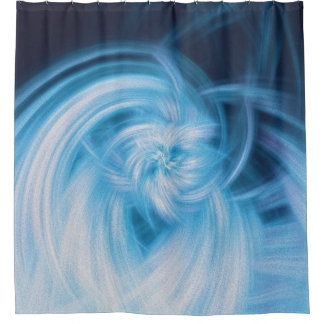 Clouds reimagined shower curtain