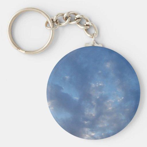 clouds sky blue keychains