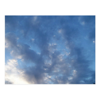 clouds sky blue postcard
