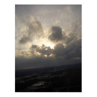 Clouds Sky Sunlight Silver Lining Cloudy Landscape Postcard