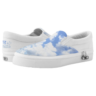 Clouds Slip Ons Printed Shoes