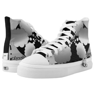 CLOUDS SNEAKERS, i Art and Designs High Tops