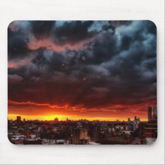 Clouds, Sunset And Red Mouse Pad