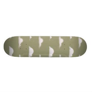 clouds tan 19.7 cm skateboard deck