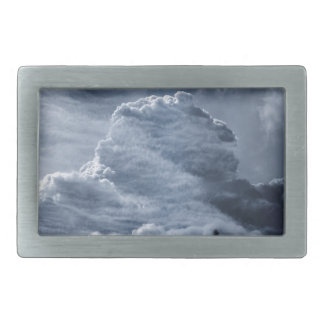Clouds Temple Rectangular Belt Buckle