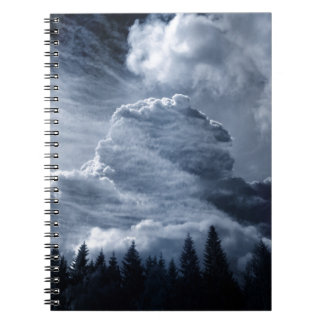 Clouds Temple Spiral Notebook