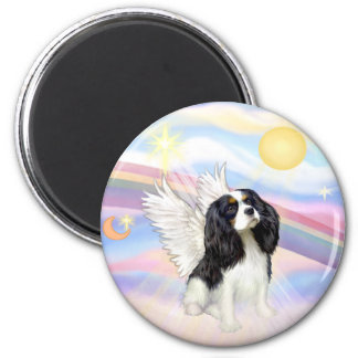 Clouds - Tri Color Cavalier King Charles Angel Magnet