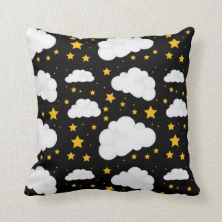 Clouds With A Bright Stary Night Cushion