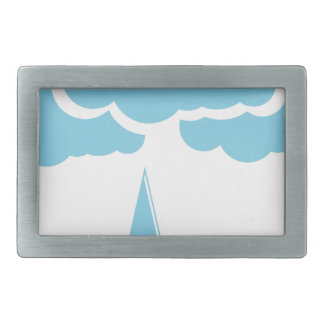 Clouds with drizzle rectangular belt buckle