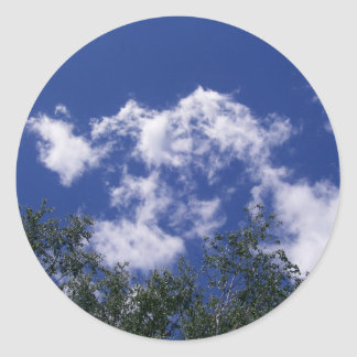 Clouds with Treetops Stickers