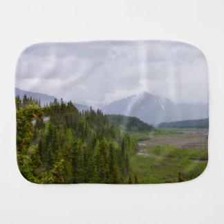 Cloudy At Denali Burp Cloth