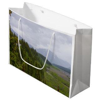 Cloudy At Denali Large Gift Bag