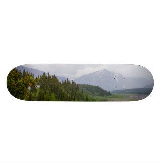 Cloudy At Denali Skate Deck