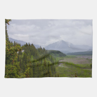 Cloudy At Denali Tea Towel