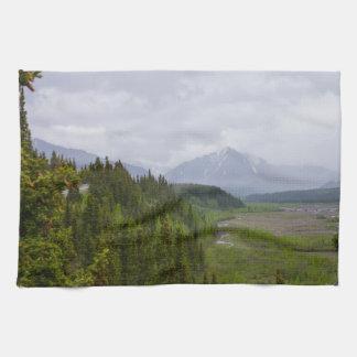 Cloudy At Denali Tea Towel
