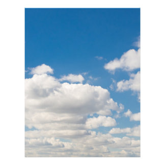 Cloudy blue sky 21.5 cm x 28 cm flyer